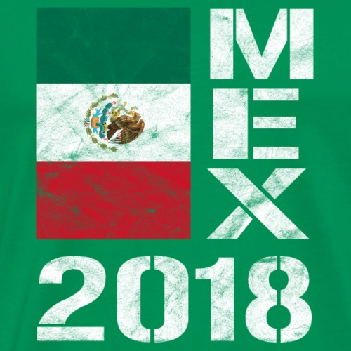 MEX 2018 Mexiko Shirt Fussball Fan Mexiko Flagge - Männer Premium T-Shirt