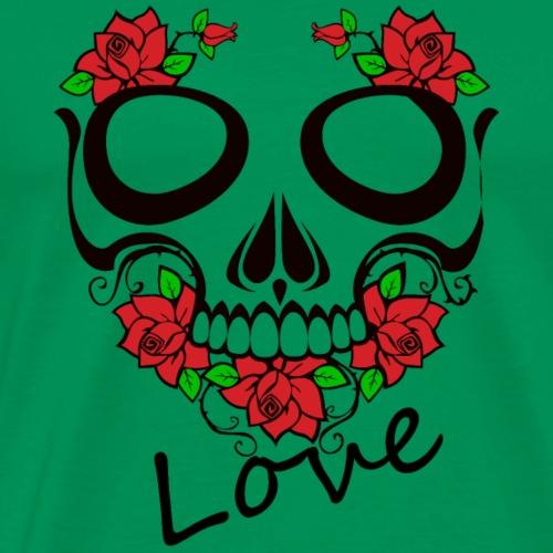 Love Totenkopf - Männer Premium T-Shirt