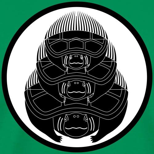 Japanese motif The Three Turtles - Men's Premium T-Shirt