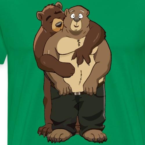 2 Bears having fun - Mannen Premium T-shirt