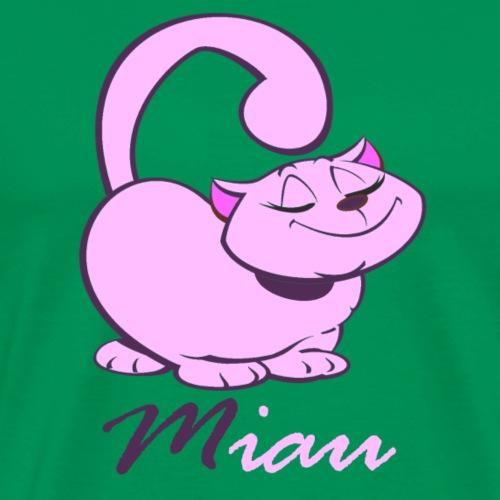 Katze Miau rosa Kätzchen Kater Haustier Spruch - Männer Premium T-Shirt