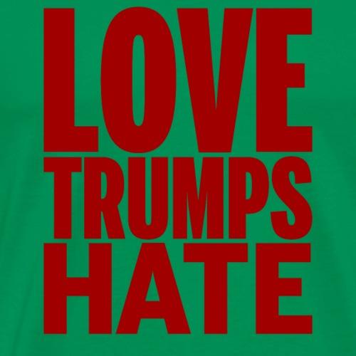 Love Trumps Hate - Red Text - Men's Premium T-Shirt