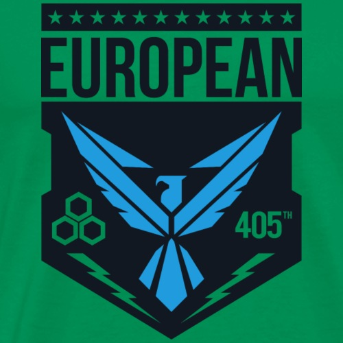 European 405th logo no white - Mannen Premium T-shirt