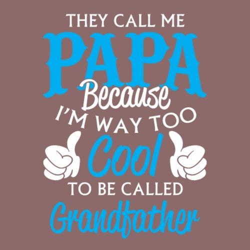 Papa - way too cool - Men's Premium T-Shirt