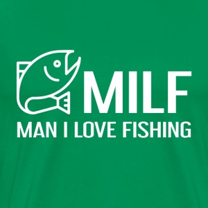 MILF - Man I Love Fishing - Mannen Premium T-shirt