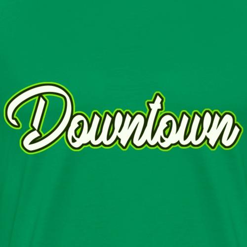 Downtown grün - Männer Premium T-Shirt