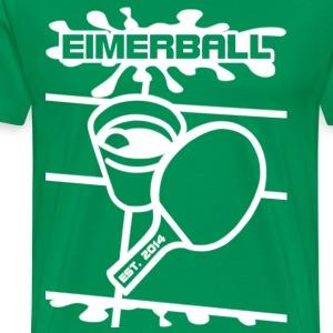 EIMERBALL-Logo-ALPHA-weiß-splash - Männer Premium T-Shirt