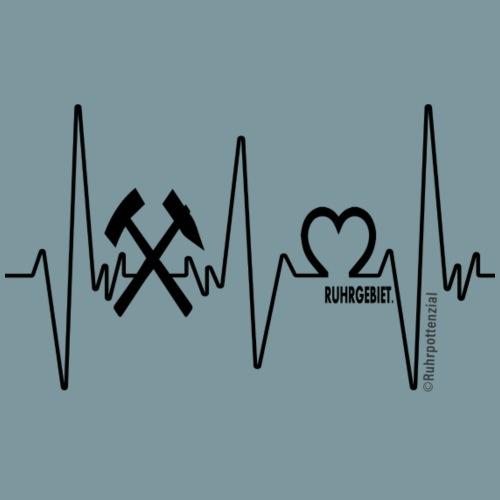 I Love Ruhrgebiet (schwarz) - Männer Premium T-Shirt