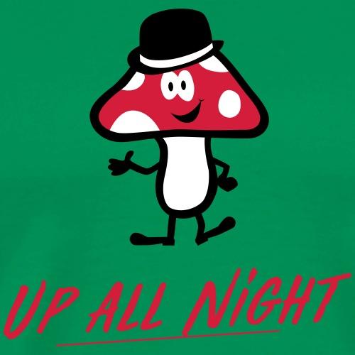Lucky Mushroom Up All Night red - Männer Premium T-Shirt