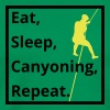 eat sleep canyoning repeat - Männer Premium T-Shirt