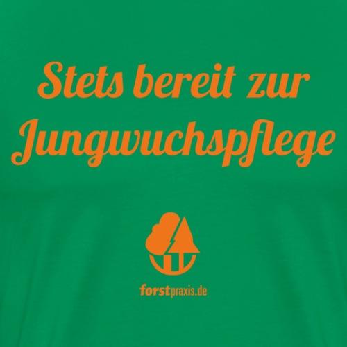 forstpraxis Jungwuchspflege orange - Männer Premium T-Shirt