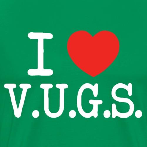 I Heart V.U.G.S. Wit - Mannen Premium T-shirt