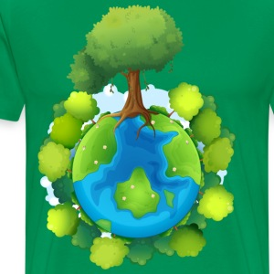 tree forest nature planet - Men's Premium T-Shirt