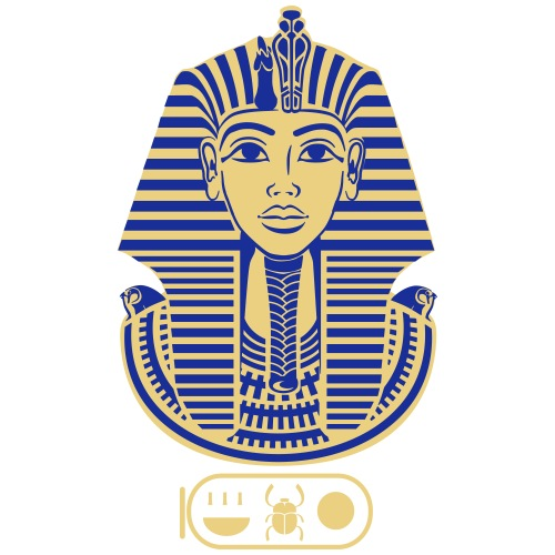 Tutanchamun (zweifarbig) - Männer Premium T-Shirt