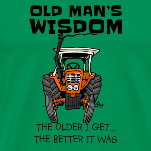 0093 oldmanswisdom belarus - Mannen Premium T-shirt
