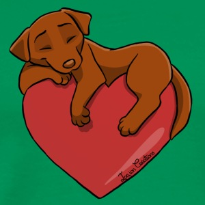 Labrador Chocolate Heart - Men's Premium T-Shirt