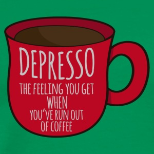 Coffee: Depresso - the feeling you get when ... - Men's Premium T-Shirt