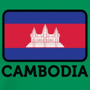 National Flag Of Cambodia - Herre premium T-shirt