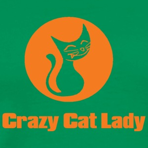 crazy cat lady 1 - Premium T-skjorte for menn