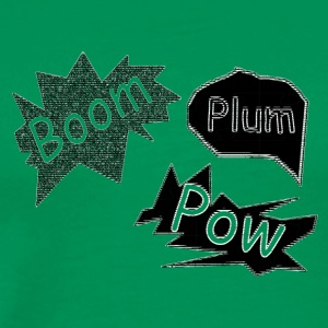 plum boom pow - Men's Premium T-Shirt