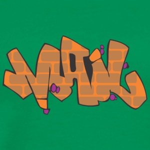 post graffiti - Premium T-skjorte for menn