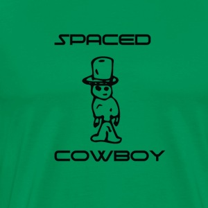 Spaced Cowboy Funny and cool - Men's Premium T-Shirt