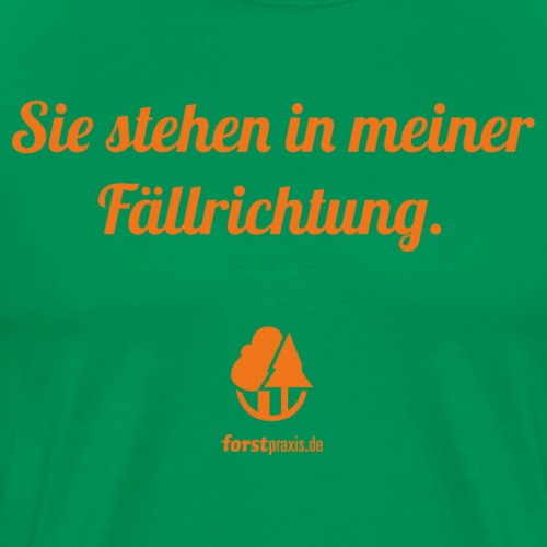 forstpraxis Fällrichtung orange - Männer Premium T-Shirt