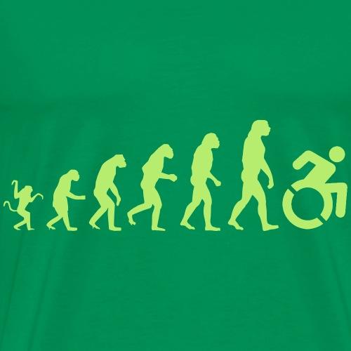 EvolutionWheelchair - Mannen Premium T-shirt