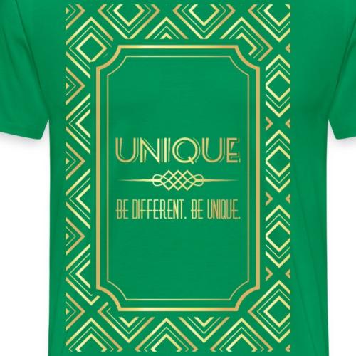 Third Golden Geometric - Men's Premium T-Shirt