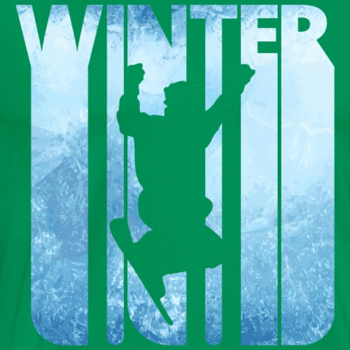 Vintage Winter Holiday Snowboarding Freestyle Gift - Men's Premium T-Shirt