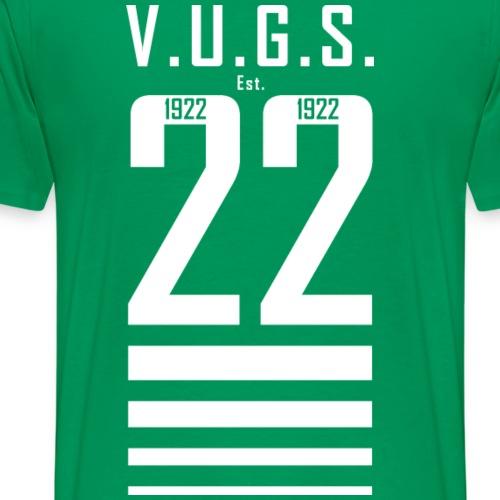 V.U.G.S. Est. 1922 Wit - Mannen Premium T-shirt