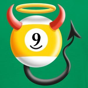 Billard Kugel 9 ...Engel oder Teufel ? Nine Ball - Männer Premium T-Shirt