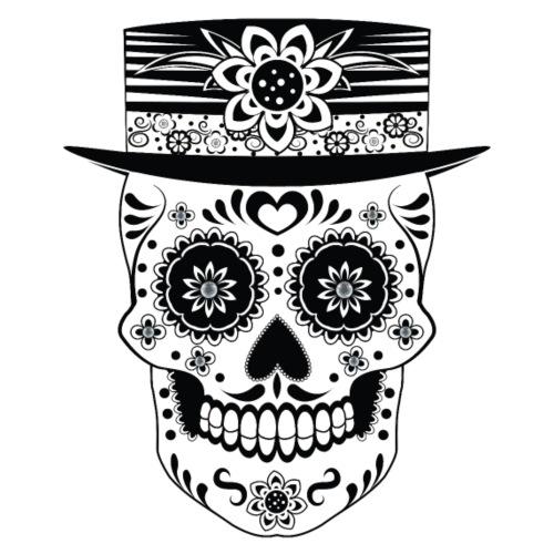 Day of the Dead Sugar Skull - Men's Premium T-Shirt