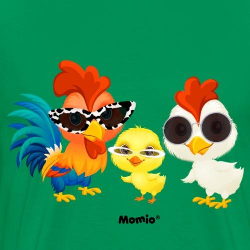 Kurczak - autorstwa Momio Designer Emeraldo. - Koszulka męska Premium