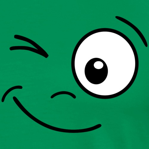 Gesicht zwinkern - Männer Premium T-Shirt