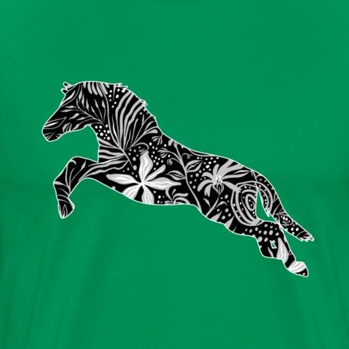Flower Horse I - Miesten premium t-paita