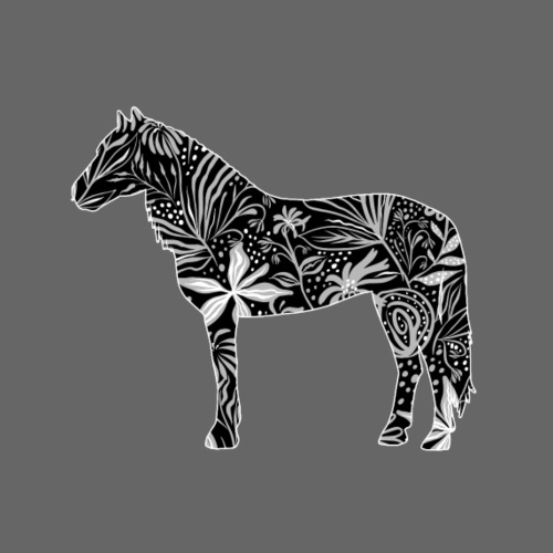 Flower Horse II - Miesten premium t-paita