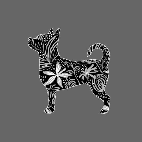 Flower Chihuahua I - Miesten premium t-paita