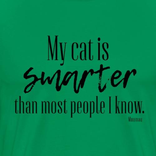 Cat - Smarter - Miesten premium t-paita