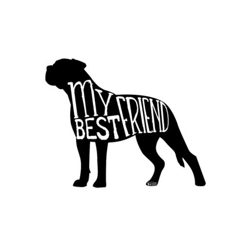 Bullmastiff Best Friend I - Miesten premium t-paita