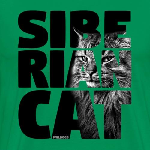 Siberian Cat Black - Miesten premium t-paita