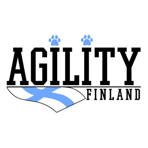 Agility Finland Musta - Miesten premium t-paita