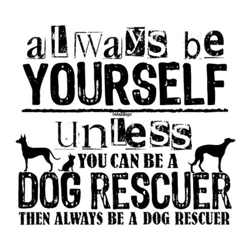 Dog Rescuer Black - Miesten premium t-paita