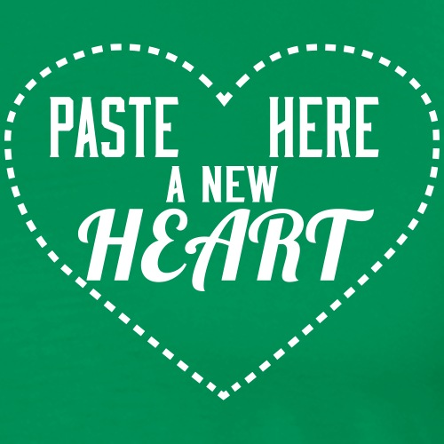 Paste Here Heart - Maglietta Premium da uomo