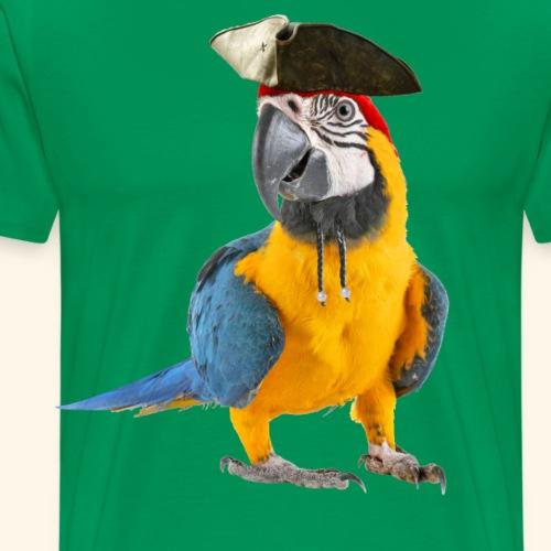 Papagei der Karibik Vogel Piraten-Look Halloween - Männer Premium T-Shirt