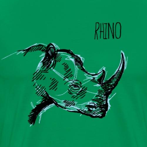 Rinoceronte - Camiseta premium hombre