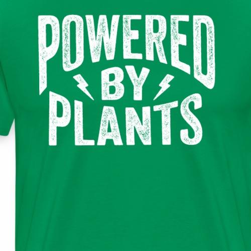 Powered by Plants Shirt Go Vegan T-Shirt Gift - Männer Premium T-Shirt