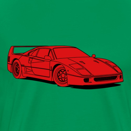 f40 red - Men's Premium T-Shirt