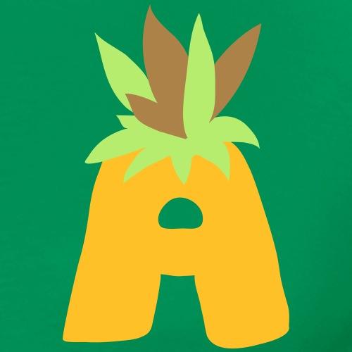Lettre A ananas - T-shirt Premium Homme