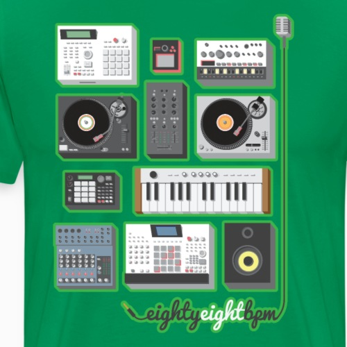88 BPM Full Set (green) - Men's Premium T-Shirt